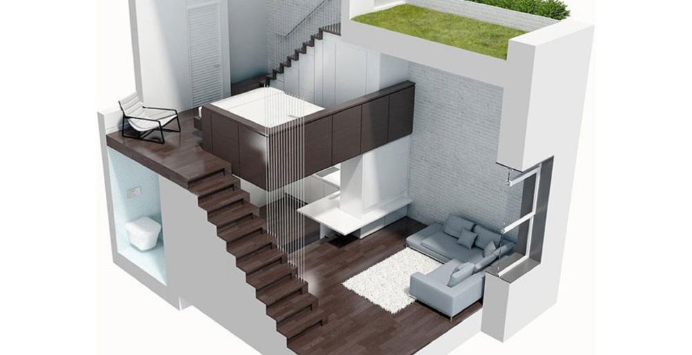 Vue 3D pour d'un diagnostic avant achat immobilier par SANAKA Design