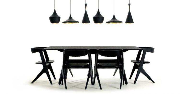 Ensemble de salle à manger noir