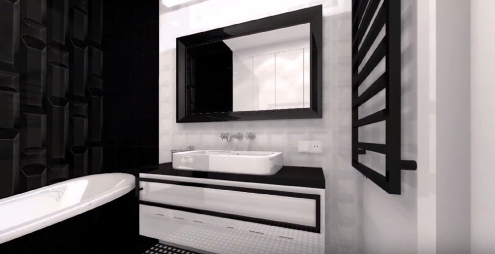 Prestation d'architecture d'intérieur pour une salle de bain