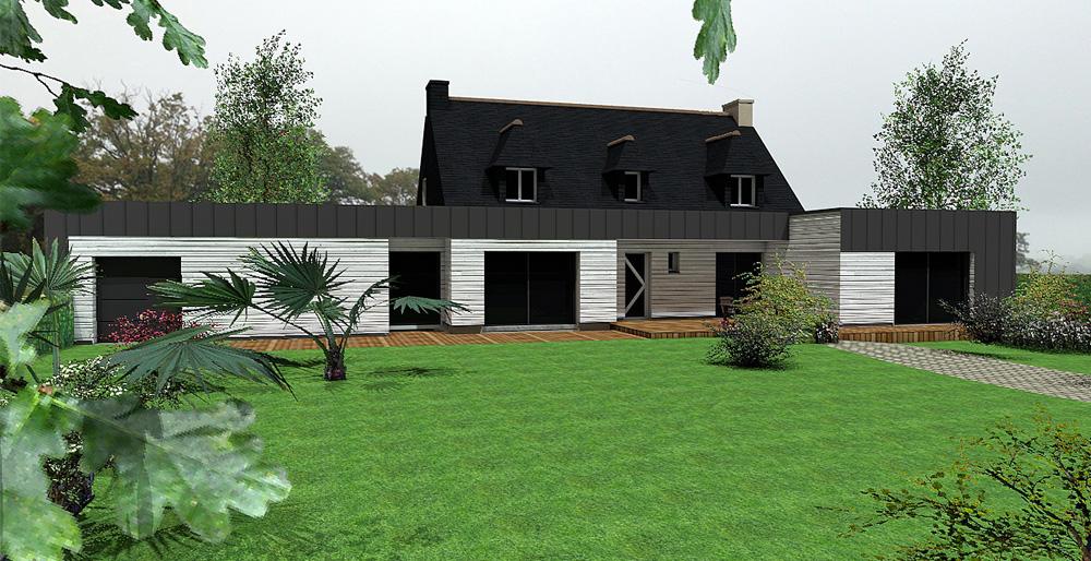 Une vue 3D pour une maison pour la prestation de diagnostic immobilier