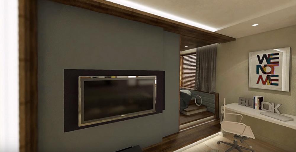 Vue 3D pour la prestation de relooking d'intérieur de SANAKA Design