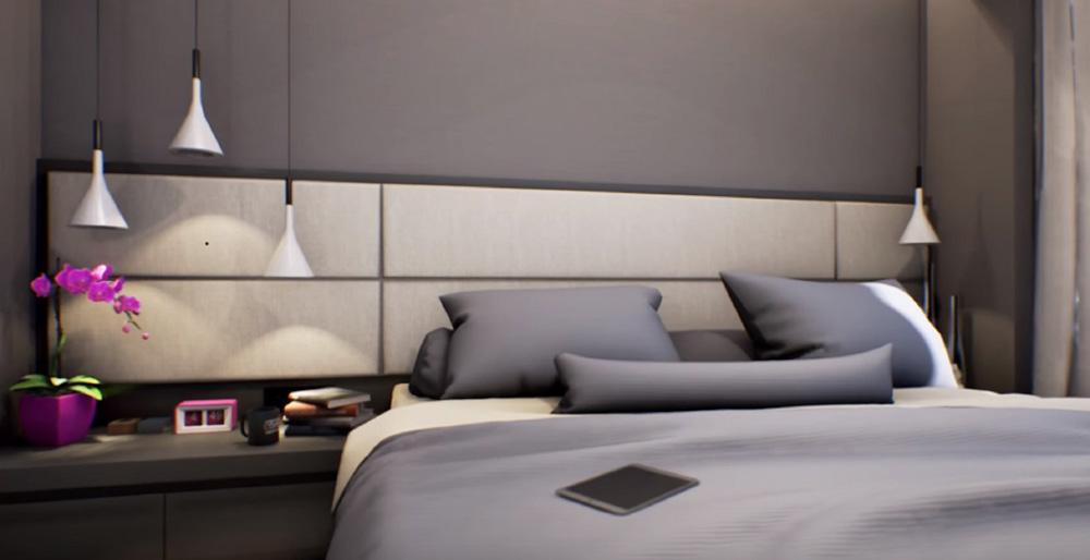 Une chambre mise en valeur par la prestation de relooking intérieur