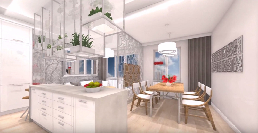 Salle à manger relooké par SANAKA Design