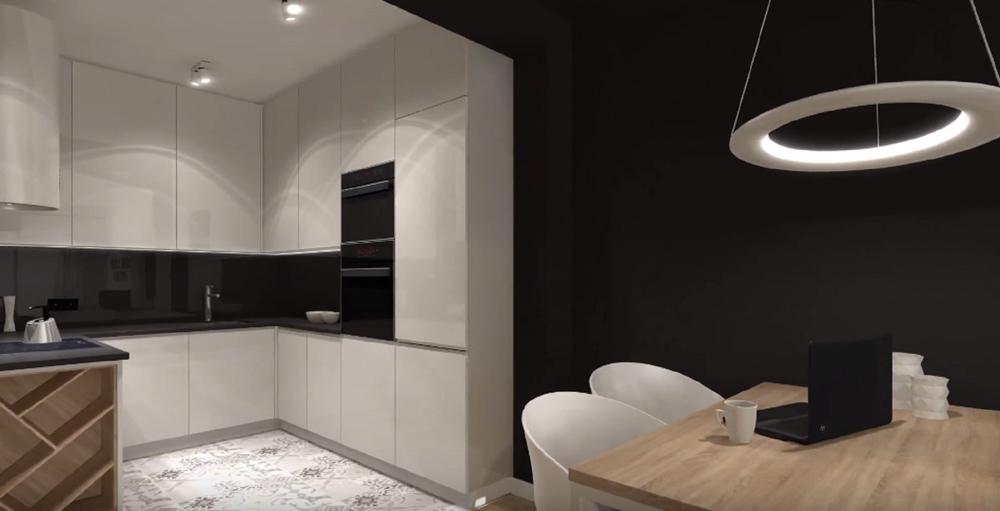 am nagement complet d 39 un studio sur ploemeur sanaka design. Black Bedroom Furniture Sets. Home Design Ideas