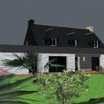 Vue 3D l'ajout d'une extension pour une maison de Ploemeur