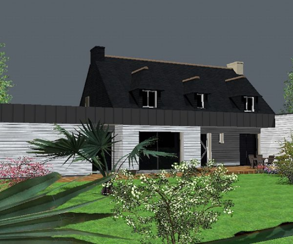 Populaire Extension d'une maison néo-bretonne sur Ploemeur | SANAKA Design GJ19