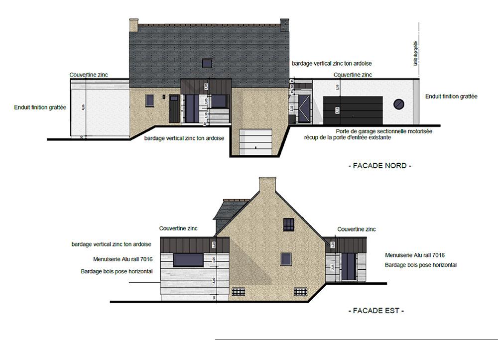 Extension DUne Maison NoBretonne Sur Ploemeur  Sanaka Design