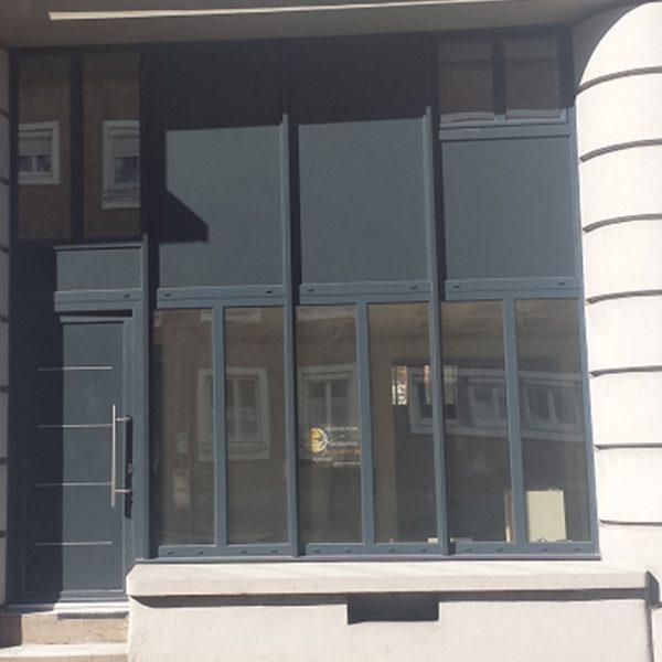 Vue après travaux de la rénovation de la façade d'un loft sur Lorient