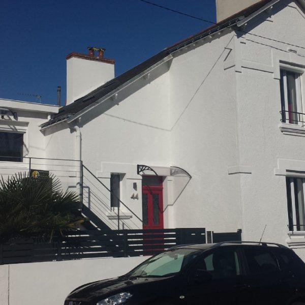 Vue après travaux de la rénovation d'une maison 1930 sur Lorient