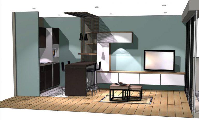 Rénovation d'un studio à Concarneau