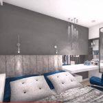 La chambre rénovée en vue 3D pour l'appartement de Lanester