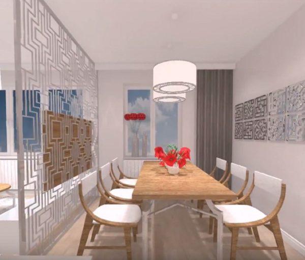 Espace salle à manger de larénovation de l'appartement de Lanester