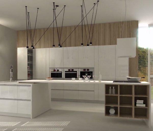Espace ouvert et dégagé pour la cuisine rénovée