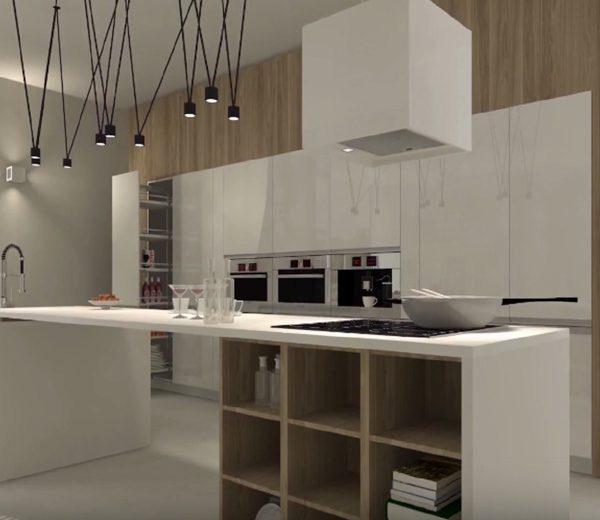 Le plan de travail de la cuisine rénovée sur Larmor-Plage