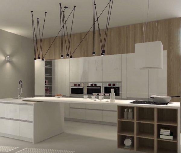 Vue générale de la cuisine pour une rénovation sur Larmor-Plage